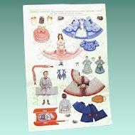 1913 Original Uncut Page, Delineator Magazine Paper Dolls