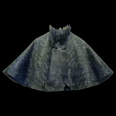 Beautiful Black Silk Victorian Mourning Capelet