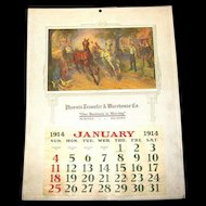 Large 1914 Sample Calendar, American Art Works, Coshocton, Ohio