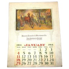 Large 1914 Sample Calendar, American Art Works, Coshocton, Ohio