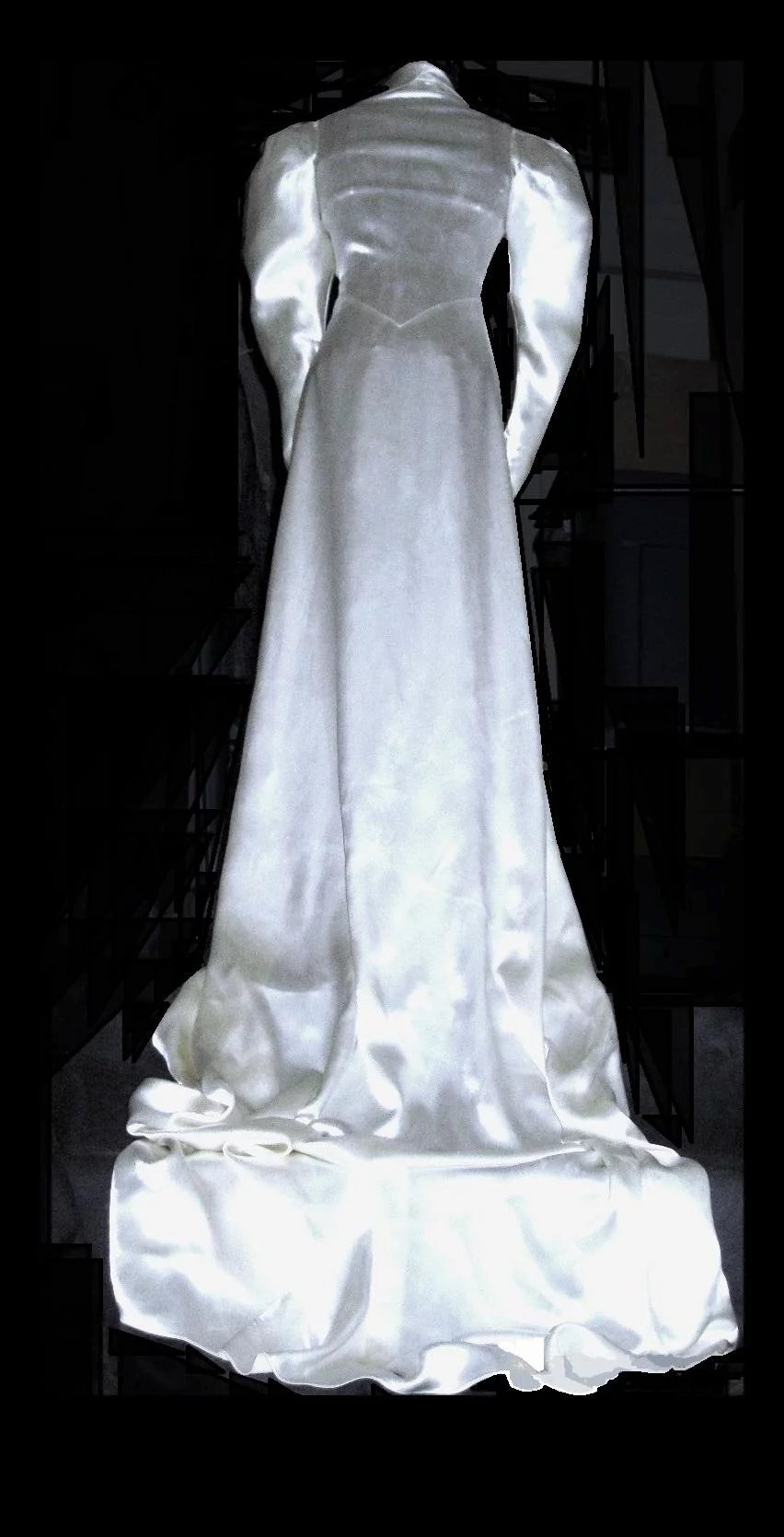 1930\'s White Satin Bias Cut Wedding Gown with Train : Toni Ink ...