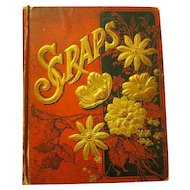1876 Scrapbook with Trade Cards and other Victorian Ephemera