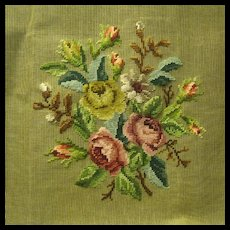 Companion Piece to Large Vintage Dritz Preworked Floral Tapestry Canvas