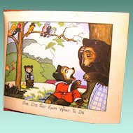 """1927 Child's Cubby Bear Series Book, """"A Frightened Baby"""""""