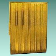 Evans Art Deco Cigarette Case, Linear Design