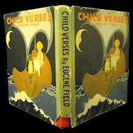 "1927 ""Child Verses"", by Eugene Field, Illustrated by Helen Nyce, Great Deco Cover"