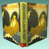 """1927 """"Child Verses"""", by Eugene Field, Illustrated by Helen Nyce, Great Deco Cover"""