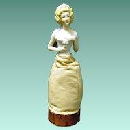 Never Used German Pincushion Half Doll, Original Base