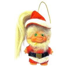 "1960s All Original Scandia House 3"" Troll Santa Claus Hanging Christmas Ornament"