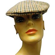Vintage Flat Golf or Driving Cap by Richards and Thirkell, English