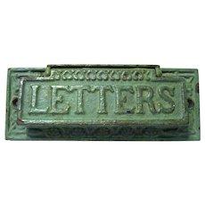 Edwardian Cast Iron Letter or Mail Slot