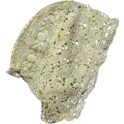 !9th Century Child's Hand Made Lace Cap