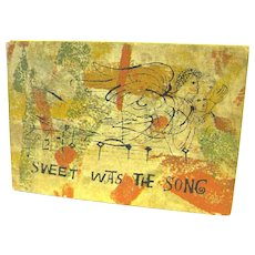 """""""Sweet Was the Song"""", Ben Shahn, from the Text of an Old English Carol"""