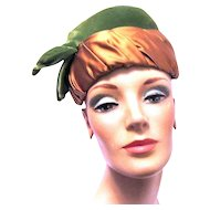 Vintage Lady's Hat is a Modified Turban from the 1940s