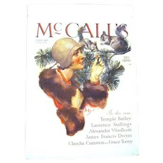 "January 1919 McCall's Magazine Cover by Famous Illustrator, Neysa McMein, ""Feeding the Squirrels"""