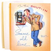 """Unused 1940s' Get Well Cards, Man in """"Zoot"""" Suit"""