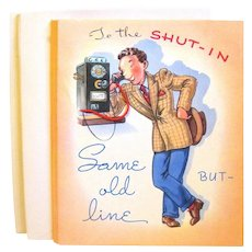"Unused 1940s' Get Well Cards, Man in ""Zoot"" Suit"
