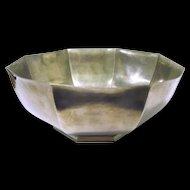 """Large vintage Gorham Pewter Vegetable Fluted bowl, """"Octette"""""""