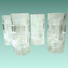 Four Sparkling Crystal Highball Glasses, Ralph Lauren, Ca. 1993