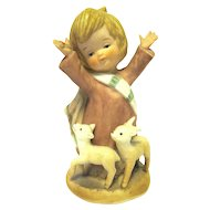 "Boxed Bisque Figurine NOAH from ENESCO's ""Little Bible Friends"" 1980"