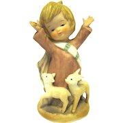 "Boxed Bisque Figurine NOAH from ENESCO's ""Little Bible Friends"" 1980"