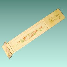 Dated 1913 Valentine Bookmark with Greetings from Sender