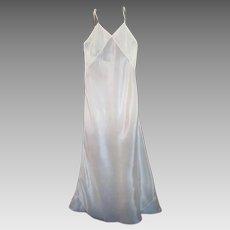 1930s' Lady's Long Bias Cut Full Silk Slip, Creamy Blush Color