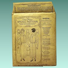 1921 McCall Pattern, Lady's Jumper Dress