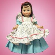 "1960 madame alexander Little Lady Doll 8"" Bent Knee Walker, Maggie Face"