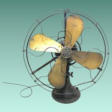 "Working 16"" Alternating Current General Electric Oscillating Fan, ca. 1923"