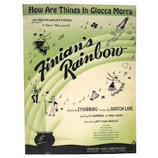 """How Are things in Glocca Morra"" Sheet Music from FINIAN'S RAINBOW, 1946"