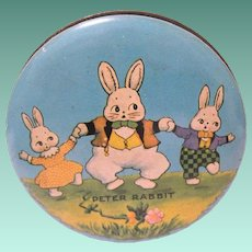 Small  Vintage Peter Rabbit Lidded Candy Tin, Harrison Cady Art