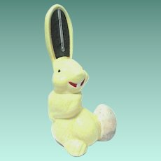 MId Century Figural Ceramic Bunny with Thermometer