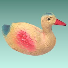 Small Vintage 1920's Celluloid Duck Toy