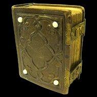 Civil War Era Carte de Visite Photograph Album and Contents, Fancy Brass Closures
