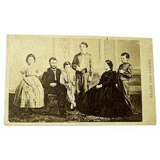 Former Civil War General and President Ulysses S. Grant and Family Original CDV