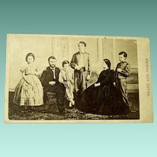 Former Civil War General and President Ulysses S. Grant and Family Original CDV