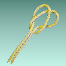 Twisted Celluloid Hair or Hat Ornament from the Edwardian Era