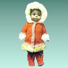 "Scarce Vintage 8"" Madame Alexander ""Eskimo"" Doll, 1967-69"