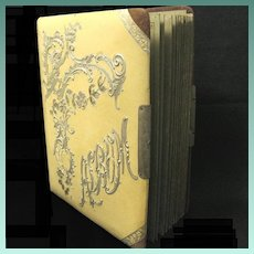 Victorian Album with Celluloid Cover holds 20 Cabinet Photographs