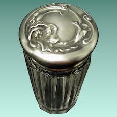"Sterling Silver Vanity Jar in the ""Poppy"" Pattern, Unger Bros. 1895-1907"
