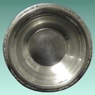 "Vintage Sterling Silver Candy Dish or Bon Bon Bowl, International Silver, ""Courtship"""