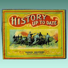 """1918 Parker Bros. Game, """"History Up-to Date"""""""