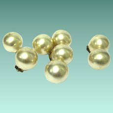 1930s' Featherweight Metal Shanked Button Spheres with Pearlized Finish