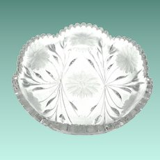ABP Scalloped Edge Cut Glass Bowl, 1910