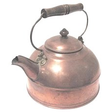 Vintage Revere Ware Tin-lined Copper Tea Kettle