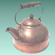 Vintage Revere Ware Tin-lined Copper Tea Kettle