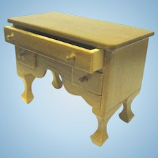 Reevesline Doll House Furniture, Desk with Drawers, ca. 1970s