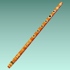 Early Toy Metal Penny Whistle or Saxaflute