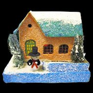 Pre-war Japanese Village Putz House for Christmas Tree Scene